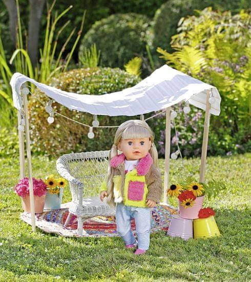 BABY born Komplet z barvnim plaščem Deluxe, 43 cm