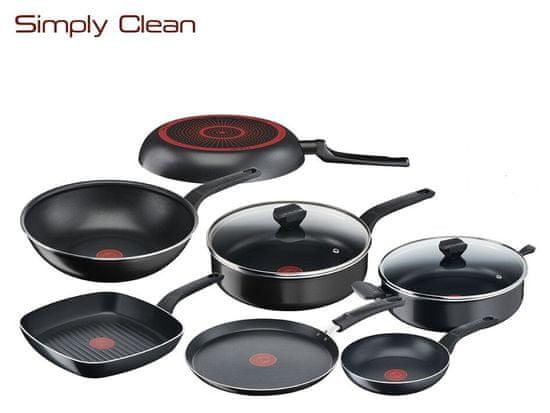 Tefal Simply Clean hluboká pánev s poklicí 24 cm B5673253