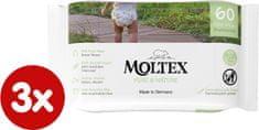 MOLTEX chusteczki nawilżane EKO Pure & Nature na bazie wody (3 x 60 szt.)