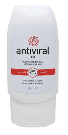 ANTIVIRAL Tekutá dezinfekcia s vôňou Antiviral gél 50 ml. HDPE tuba