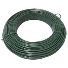 drát napínací, poplastovaný, zelený, O 4,2 mm / 51 m