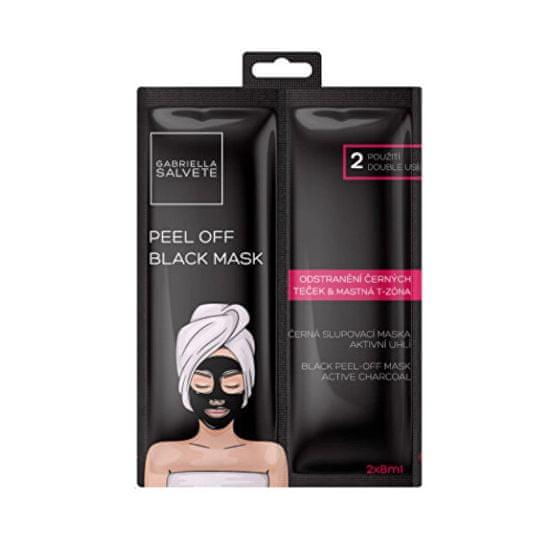 Gabriella Salvete Černá pleťová slupovací maska Active Charcoal (Black Peel-Off Mask) 2 x 8 ml