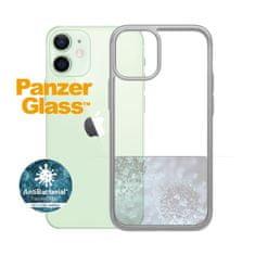 PanzerGlass ClearCase Antibacterial zaščitni ovitek za Apple iPhone 12 mini, srebrn – Satin Silver (0270)