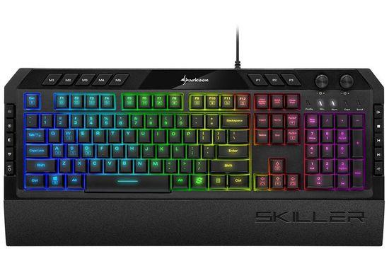 Sharkoon Skiller SGK5 tipkovnica, RGB, črna, US SLO g