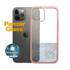 PanzerGlass ClearCase Antibacterial zaščitni ovitek za Apple iPhone 12 Pro Max, roza – Rose Gold (0275)