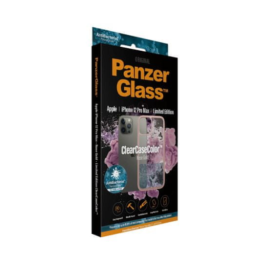 PanzerGlass ClearCase Antibacterial pre Apple iPhone 12 Pro Max (ružový - Rose Gold) 0275