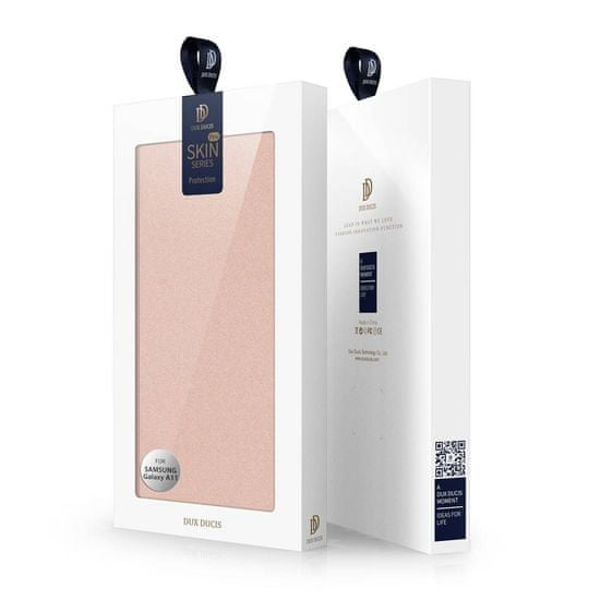 Dux Ducis Skin Pro knjižni usnjeni ovitek za Samsung Galaxy M11, roza