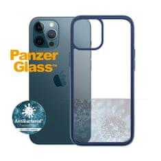 PanzerGlass ClearCase Antibacterial zaščitni ovitek za Apple iPhone 12 Pro Max, moder – True Blue (0278)