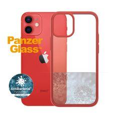 PanzerGlass ClearCase Antibacterial zaščitni ovitek za Apple iPhone 12 mini, rdeč – Mandarin Red (0279)