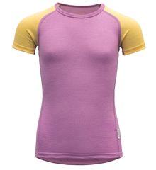 Devold dívčí funkční tričko Breeze Kid T-shirt 104 růžová
