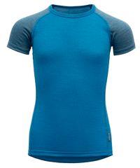 Devold chlapecké funkční tričko Breeze Kid T-shirt 104 modrá