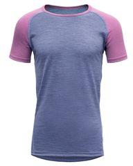 Devold Breeze Junior T-Shirt funkcionalna majica za djevojčice, ljubičasta, 140
