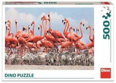 Dino Flamingi sestavljanka, 500 delov