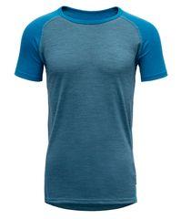 Devold koszulka funkcjonalna chłopięca Breeze Junior T-shirt 140 niebieska