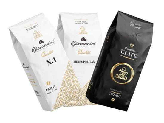 DaRoma caffé Degustační balení kávy DaRoma caffé 3 x 1 Kg zrnková káva