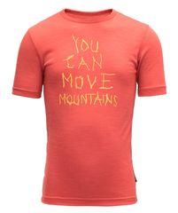 Devold dětské funkční tričko Moving Mountain Kid Tee 104 červená