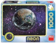 DINO świecące puzzle Planeta Ziemia, 1000 elementów