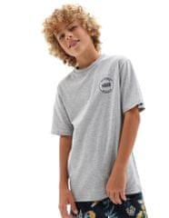 Vans chlapecké tričko By Authentic Checker VN0A543ZATH1 S šedá