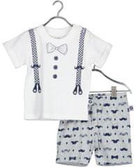 Blue Seven chlapčenský set tričko a kraťasy 422130 X biela 56
