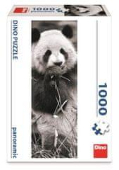 DINO puzzle panoramiczne Panda w trawie, 1000 elementów