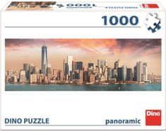 DINO puzzle panoramiczne Manhattan o zmierzchu, 1000 elementów