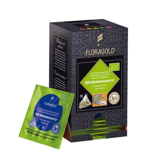 Floragold Zelený čaj BIO Ranní sonáta (mango-citrus) 15 ks