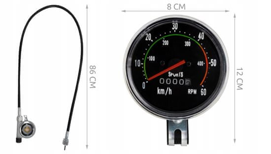 Retro mjerač za bicikl, analogni