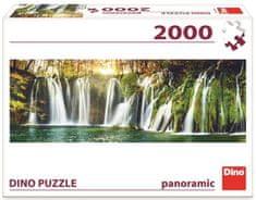 Dino sestavljanka slapovi Plitvice, panoramska, 2000 kosov
