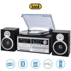 Trevi TT-1072 gramofonski stereo sistem, DAB/DAB+, Bluetooth, črn