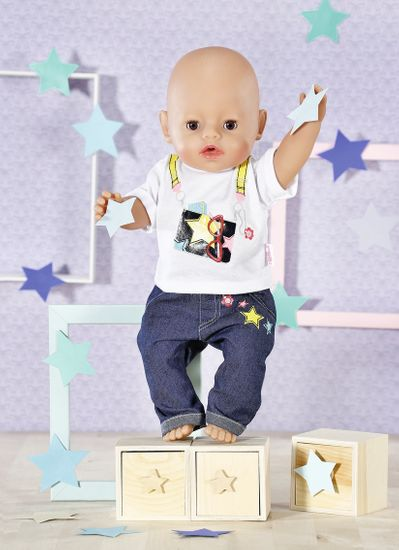Zapf Creation Dolly Modna jeans obleka, 43 cm