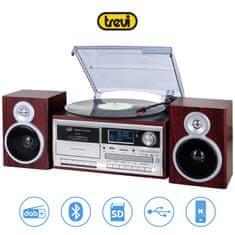 Trevi TT-1072 gramofonski stereo sistem, DAB/DAB+, Bluetooth, rjav