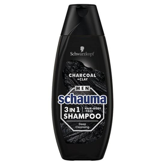 Schauma Charcoal & Clay 3u1 šampon za muškarce, 400ml