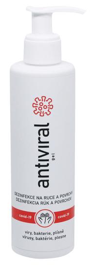 ANTIVIRAL Tekutá dezinfekcia s vôňou Antiviral gél 100 ml s pumpou