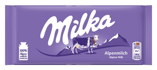 MILKA čokoláda mliečna 100g (bal. 24ks)