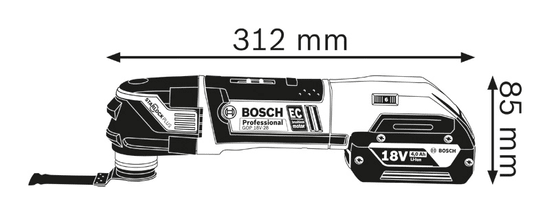 BOSCH Professional akumulatorski večnamenski rezalnik GOP 18 V-28 solo (06018B6002)