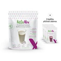 KetoMix Proteinový koktejl KetoMIX 1200 g (40 porcí) (čokoláda, vanilka a jahoda)