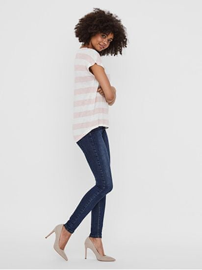Vero Moda Női póló VMWIDE STRIPE 10190017 Sepia Rose