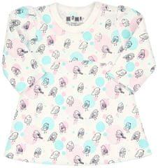 Nini dievčenské šaty z organickej bavlny ABN-2590, 74, smotanová