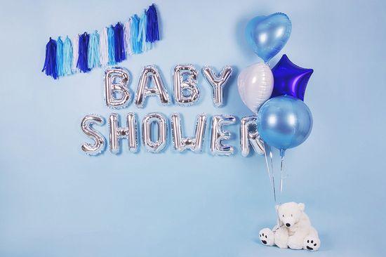 PartyDeco Fóliový balón Mini - Písmeno W 35cm strieborný