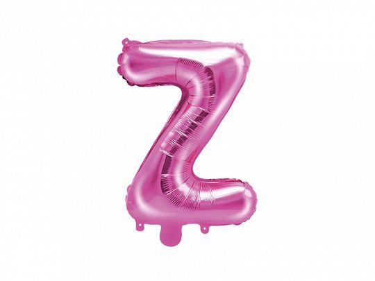 PartyDeco Fóliový balón Mini - Písmeno Z 35 cm ružový