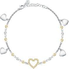 Morellato Romantična dvobarvna zapestnica s srčki Dolcevita SAUA12