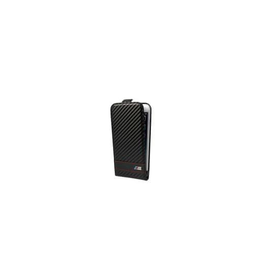 Bmw flipové puzdro Apple iPhone 6 4.7, čierny karbón efekt, N-BMFLP6MCC