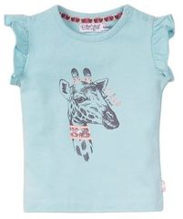 Dirkje dívčí tričko žirafa VD0212 62 modrá
