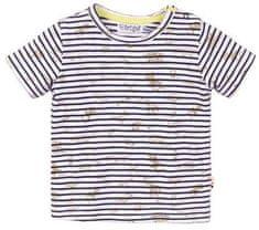 Dirkje chlapecké tričko s proužky - zvířátka VD0218 56 bílá