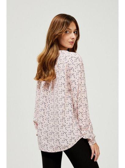 Moodo moodo pudrová košile s drobným vzorem