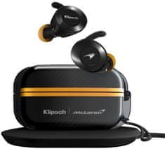 Klipsch T5 II True Wireless Sport McLaren, černá/žlutá