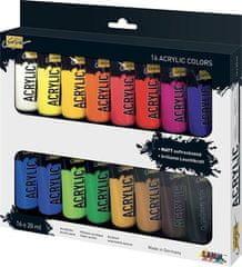 """KREUL Sada Akrylová barva """"SOLO GOYA"""", 16 barev, 20 ml v tubě"""