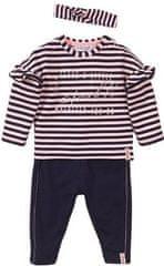 Dirkje set majica, hlača i vrpca za djevojčice VD0610, 68, tamno plavi