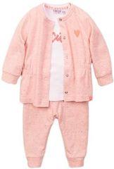 Dirkje dívčí set tričko, kabátek a tepláčky VD0632 růžová 56