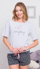 Vienetta Dámské pyžamo šortky Everyday barva světle šedá, velikost M